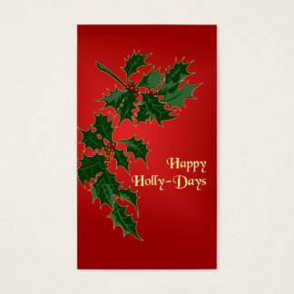 Happy Holly-Days Christmas Gift Tags