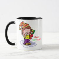 Happy Holly Days Christmas Mug