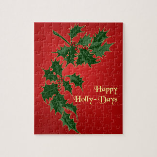 Happy Holly-Days Christmas Puzzle