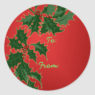 Happy Holly-Days Gift Tag Stickers