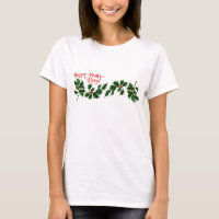 Happy Holly Days Leaves Womens Shirts