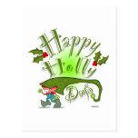 Happy Holly Days Postcard