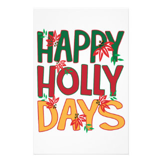 Happy Holly Days Stationery
