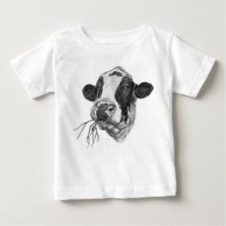 Happy Holstein Friesian Dairy Cow Baby T-Shirt