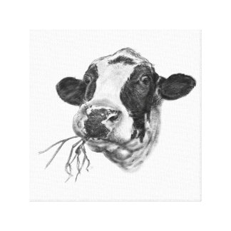 Happy Holstein Friesian Dairy Cow Canvas Print