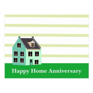 Happy Home Anniversary Realtor Postcard