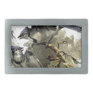 Happy  home blue ray rectangular belt buckle