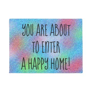 Cheerful Colorful Design Doormat