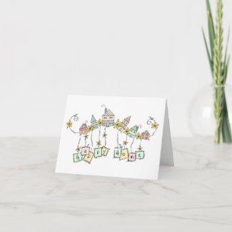 Happy Home Doodles, Housewarming Card card