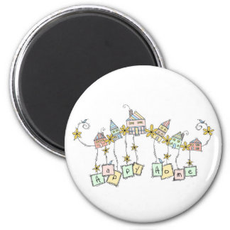 Happy Home Doodles Magnet