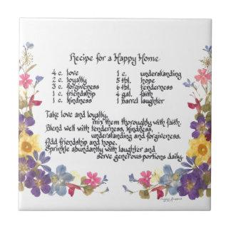 Happy Home Recipe Ceramic Tile