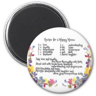 Happy Home Recipe Magnet