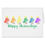 Happy Homodays (Rainbow Christmas Trees) Card