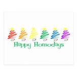 Happy Homodays (Rainbow Christmas Trees) Postcards