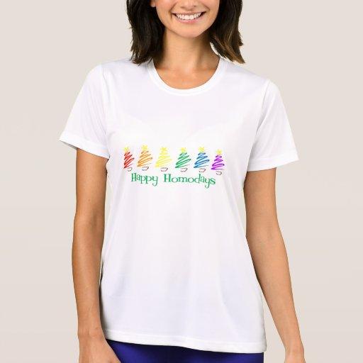 Happy Homodays (Rainbow Christmas Trees) Shirts