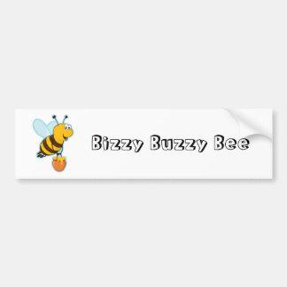 Happy Honey Bee & Honey Pot Bumper Sticker