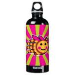 Hand shaped Happy Honeybee Bee Aluminum Water Bottle