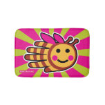 Hand shaped Happy Honeybee Bee Bathroom Mat