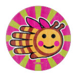 Hand shaped Happy Honeybee Bee Cutting Board