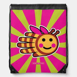 Happy Honeybee Bee Drawstring Backpack
