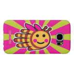 Hand shaped Happy Honeybee Bee Samsung Galaxy S6 Case