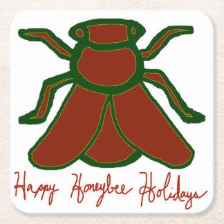 Happy Honeybee Holidays Coaster Set