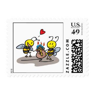 happy honeybees stamps