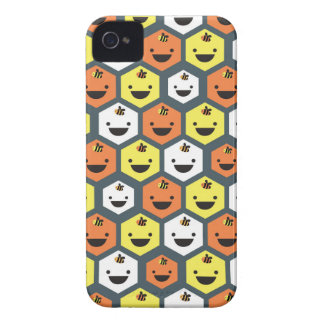 """""""Happy Honeycomb"""" iPhone 4 Barely There Case Case-Mate iPhone 4 Case"""