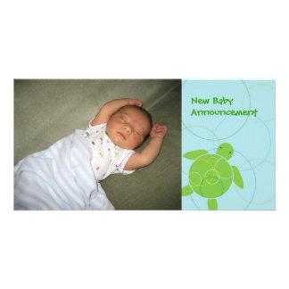 Happy Honu Birth Announcement Photo Card