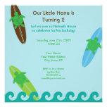 Happy Honu Loves Surf Birthday Invitation