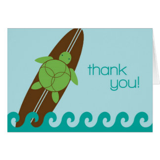 Happy Honu Loves Surf Folded Thank You Card