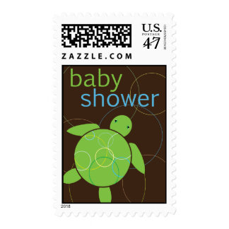 Happy Honu Sea Turtle Baby Shower Stamp