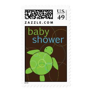 Happy Honu Sea Turtle Baby Shower Stamp