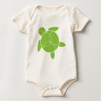 Happy Honu (sea turtle) Infant Organic Baby Bodysuit