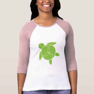 Happy Honu (sea turtle) Ladies Raglan T-shirt