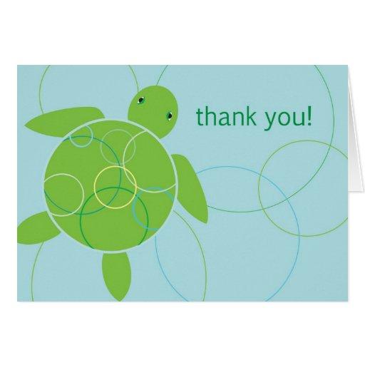 Happy Honu Thank You Card - Blue