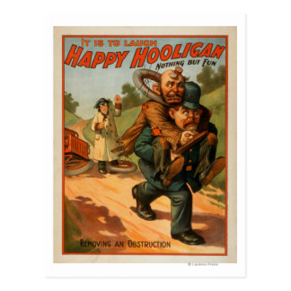 """Happy Hooligan """"It is to Laugh"""" Theatre Poster Postcard"""