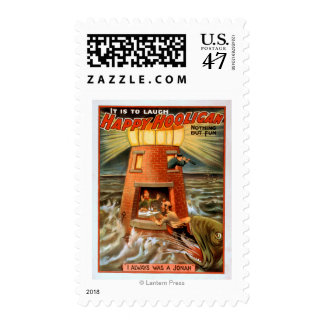 Happy Hooligan Lighthouse and Jonah Play Postage Stamp