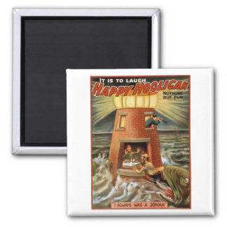 Happy Hooligan Lighthouse Poster Magnet