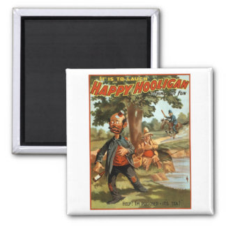 Happy Hooligan - Poisoned by Tea! 2 Inch Square Magnet