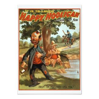 "Happy Hooligan - Poisoned by Tea! 5"" X 7"" Invitation Card"