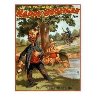 Happy Hooligan - Poisoned by Tea! Postcard