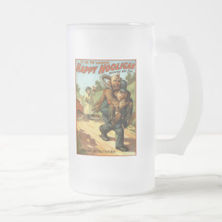 Happy Hooligan - Removing an Obstruction Frosted Glass Beer Mug