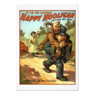 "Happy Hooligan - Removing an Obstruction 5"" X 7"" Invitation Card"