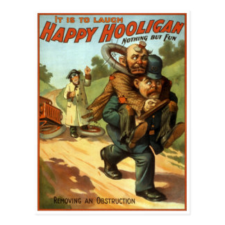 Happy Hooligan - Removing an Obstruction Post Card