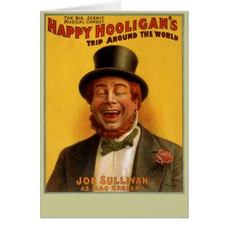 Happy Hooligan's Trip Around the World Notecard
