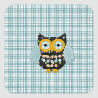 Happy Hooter Alli Square Sticker