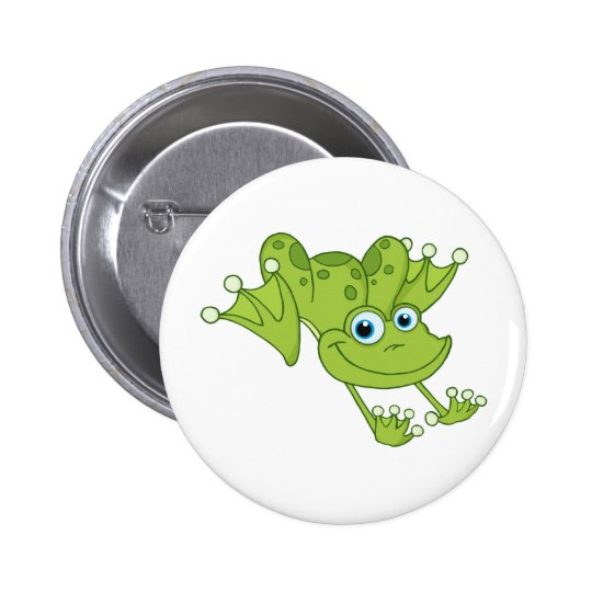 Happy Hopping Frog Button