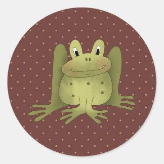 Happy Hoppy Frog Fun Stickers Seals