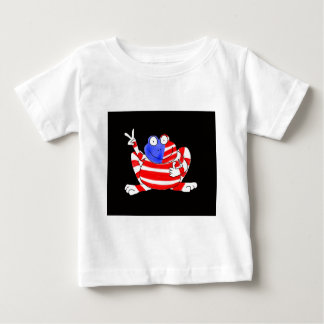 Happy Hoppy Frog Peace 4th of July Red White Blue Baby T-Shirt